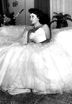 """Liz Taylor in Edith Head. from """" A Place in  the Sun"""" One of my favorite films."""