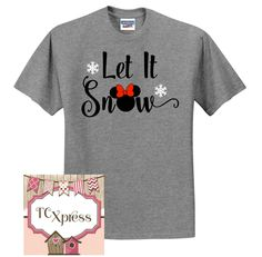 Let It Snow Minnie Mouse Christmas Tshirt, Disney Christmas, Disney Vacation shirt, Minnie Mouse Shirt, Disney Christmas, Minnie by TCXpress on Etsy