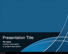 free vivid powerpoint template with blue background