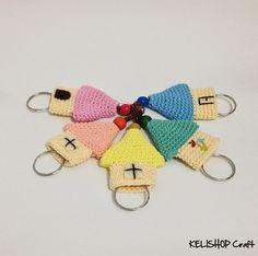 Cute Crochet Keycover/Keyring/Keycozy Little House