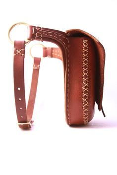 leather hip bag. leather belt bag. leather by underthetreeithaca