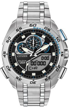 fa7f5e0a039 Relógio Citizen Men s JY8035-04E Navihawk A-T Eco-Drive Perpetual Chrono  Strap Watch