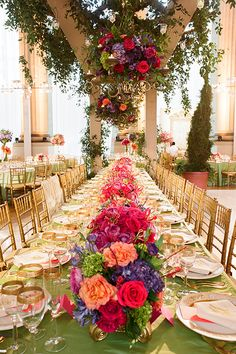 Brides: A Colorful Summer Wedding in Washington, D.C.  Planning and Design by Pineapple Production.  Photography by Kate Headley.  Catering by Design Cuisine.