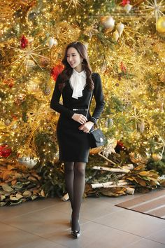 Korean Women`s Fashion Shopping Mall, Styleonme. Fashion Models, Girl Fashion, Fashion Women, Pantyhose Outfits, Girls In Leggings, Collar Blouse, Korean Model, Elegant Outfit, Womens Fashion For Work