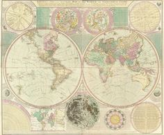 Vintage Map of the World - Antique Maps of the World - Old World Map