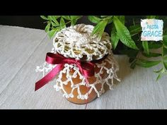 CENTRINO A UNCINETTO COPRI VASETTO - YouTube Gift Wrapping, Dining, Christmas Ornaments, Holiday Decor, Hobby, Gifts, Towels, Youtube, Pasta