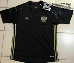Maglia calcio portiere Russia nero 2016