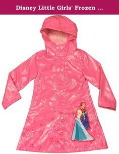 Pluie Pluie Little Girls Lime Floral Lined Rain Coat Outerwear 1-6x