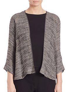 Eileen Fisher - Linen-Gauze Kimono Jacket