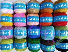 Kordonek CABLE 5  - 100% Bawełna - wiele kolorów