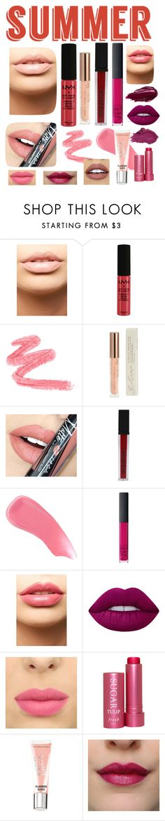 """""""Ombré swatches"""" by dharshinisridharan ❤ liked on Polyvore featuring beauty, MDMflow, NYX, Naked Princess, Fiebiger, Smashbox, Hourglass Cosmetics, NARS Cosmetics, LASplash and Urban Decay"""