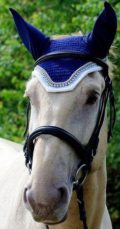Light Blue/Gray/White Horse Fly Bonnet by ImperialBonnets on Etsy