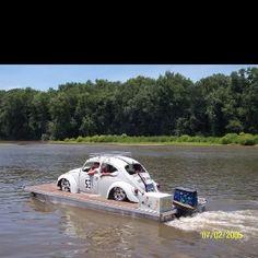 Herbie the Love Bug Boat! Can I Drive, Volkswagen, Ferdinand Porsche, Vw Bugs, Pizza Pizza, Porsche Design, Zoom Zoom, Tall Ships, Car Humor