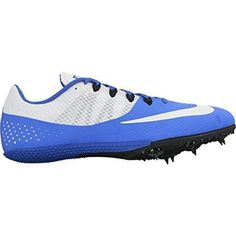 """Nike Zoom Rival S 8 Track Spike Shoes Racer Blue White Black Multi Sizes NWB (11). Spacer mesh upper is super lightweight and breathable. Flywire cables through the midfoot keep foot locked in place. Pebax spike plate with seven removable spikes extends under the arch for increased response and support. Includes 1/4"""" pyramid spikes and a wrench. Wt. 6.6 oz. MSRP: $65."""