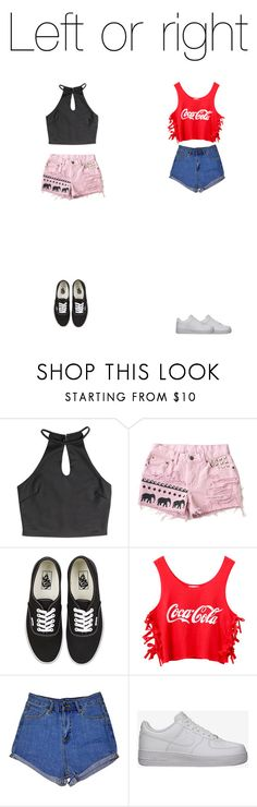 """""""🐾"""" by stylechip12 ❤ liked on Polyvore featuring Vans, Chicnova Fashion and NIKE"""