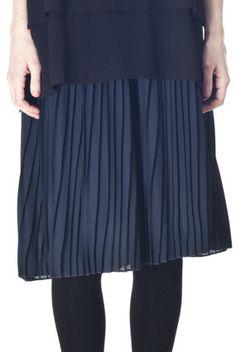 Falda midi plisada Kling
