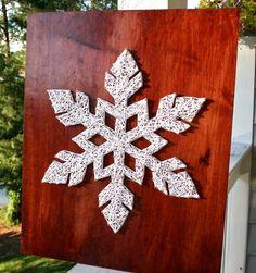 Schneeflocke String Kunst Winter-String-Kunst von DistantRealms