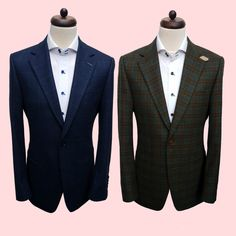 Two beautiful 100% wool sports jackets made for the same client! They're both designed to be perfect for either formal or casual wear. Which do you prefer?  #tailors #tailoring #jacket #bespoke #you #suit #fun #image #photo #wedding #cheshire #alderleyedge #england #uk #manchester #london #usa #texas #houston #gentleman #client #luxury #brand #quality #casual #formal #fashion #shirt #professional #personal