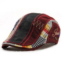 Retro Patchwork Pattern Embroidery Outdoor Sunscreen Men's Cabbie Hat BUY NOW Hipster Accessories, Leather Accessories, Vintage Accessories, Hat Patterns To Sew, Patchwork Patterns, Pattern Sewing, Cheap Mens Fashion, Men's Fashion, Cheap Hats