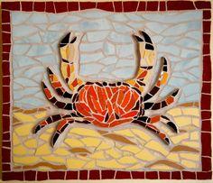 #mosaic #crab #crustacean #mosaics #art #fishrestaurant #commission #bespoke