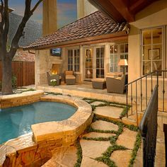 Pool on pinterest pools french country and french for Country pool ideas