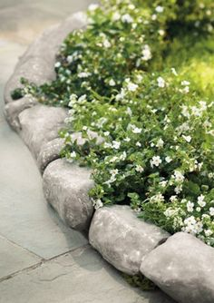 This attractive stone edging is perfect for gardens, walkways, patios, or anywhere that needs a finishing touch.