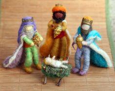 Aguja de fieltro conjunto de Natividad Natividad de por boridolls