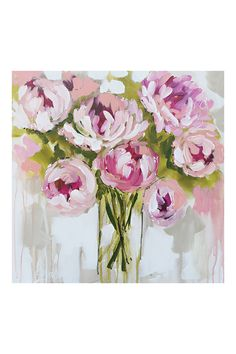 Painted Peony Canvas Print By Amanda J Brooks, L85 x H85cm | BHS
