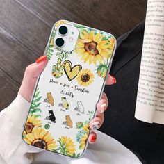 Peace Love Sunshine and Cats Personalized Phone Case