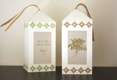 Garden Wedding Luminary   Handmade Seating Card by TriElegance, $75.00