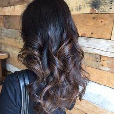 Studio - Sacramento, CA, United States. Chocolate balayage by Gabi Hair Color For Black Hair, Brown Hair Colors, Dark Hair, Light Hair, Brunette Hair, Great Hair, Hair Highlights, Balayage Hair, Gorgeous Hair