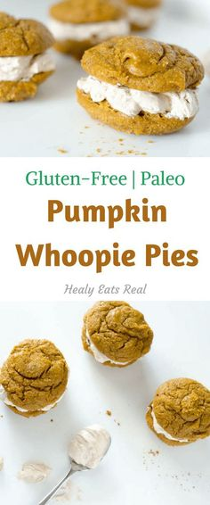 Pumpkin Whoopie Pies from @paleoscaleo Paleo, Gluten Free, Dairy Free. These whoopies pies are such a delicious fall or winter treat that are actually pretty easy to make!