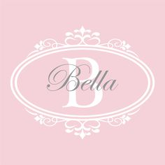 Personalized Baby Nursery Name Decal - Shabby Chic Frame Name and Initial Baby Girl Nursery Teen Girls Room Vinyl Wall Art 22H x 28W GN032. $36.95, via Etsy.