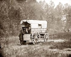Petersburg, Virginia U.S. Military Telegraph battery wagon, Army of the Potomac headquarters taken in 1864