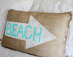DIY beach pillow