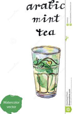 Arabic Mint Tea, Maghrebi Mint Stock Vector - Illustration of asia, culture: 65838422