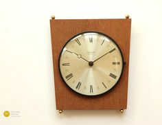 Mid Century JUNGHANS Wall Clock - 60s Danish Modern Germany mcm Atomic Space Age - Wanduhr