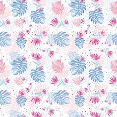 patter design - Flamingo in hawaii by Esther Hijano Muñoz, via Behance