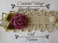 Little Treasures: Vintage Rose Bracelet  Pattern at Etsy