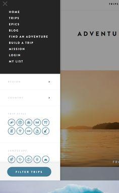 #filter #UX #UI  http://adventure.com/trips/
