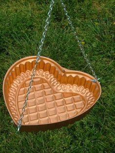 Repurposed Copper Jello Mold Hanging Bird Bath or Feeder. $17.00, via Etsy.
