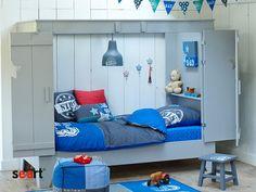 Seart.pl - łóżko parterowe, zamykane drzwi i okna, sosnowe, z sosny, drewna sosnowego, meble drewniane, z drewna, do pokoju dziecięcego, dla dziecka, do pokoju dziecięcego, ekologiczne, naturalne, najciekawsze meble dziecięce, łóżko/domek, w kształcie domu, ciekawe meble dla dziecka, dla chłopca, dla dziewczynki, stylizowane, retro, rustykalne, ponadczasowe,