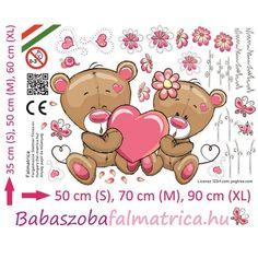 Szerelmes macipár babaszoba falmatrica #babaszoba #maci #falmatrica #gyerek #gyerekszoba #faldekoráció #szerelem #szív