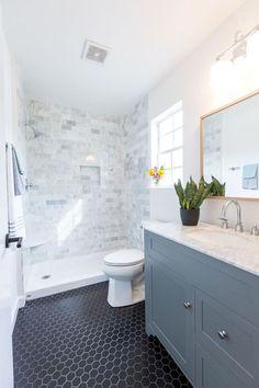 100 Farmhouse Bathroom Tile Shower Decor Ideas And Remodel To Inspiring Your Bathroom (14)
