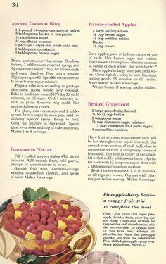 1960 era Dandy do-little Desserts Recipes – McCallum Vintage Recipe Divas Cookbook Recipes, Dessert Recipes, Cooking Recipes, Grandma's Recipes, Retro Recipes, Vintage Recipes, Pineapple Health Benefits, Grape Jam, Party Sandwiches