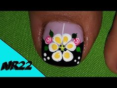 DECORACION DE UÑAS- FLORES#18- NAIL DECORATION- FLOWER#18- NR22💅❤ - YouTube Pedicure Nails, Toe Nails, Merry Christmas Gif, Cute Animal Photos, Diy Hacks, Nail Designs, Lily, Nail Art, Tattoos
