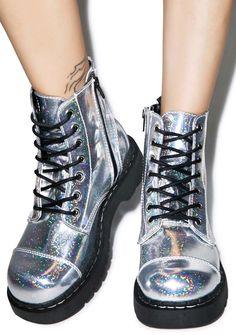 T.U.K. Mermaid Holographic 7 Eye Boot