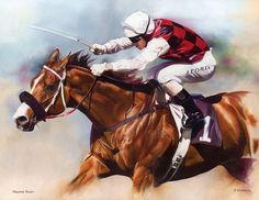 Takeover Target Painting Limited Edition Horse Racing Print by Equestrian Artist Joanna Stribbling