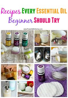 This is a fantastic list of recipes every Essential Oil beginner should try. Lots of great diy ideas!
