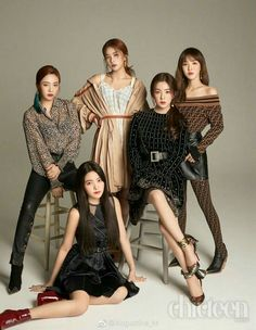 Joy, Yeri, Seulgi, Irene and Wendy Wendy Red Velvet, Red Velvet Irene, Black Velvet, Seulgi, Kpop Girl Groups, Korean Girl Groups, Kpop Girls, Red Velvet Photoshoot, Red Velet